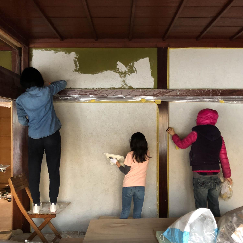 漆喰塗りワークショップ、無事終了!